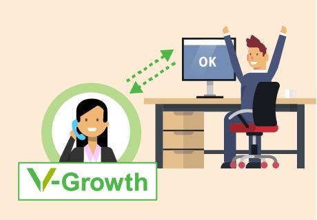 V-Growthが様々な事例をもとにサポートします!